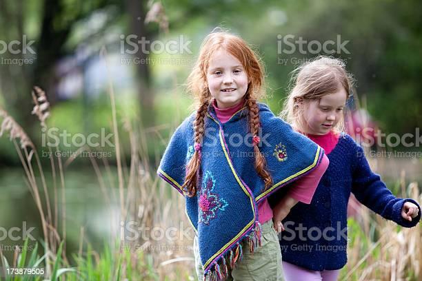 Joyful Girls In Nature Stock Photo - Download Image Now