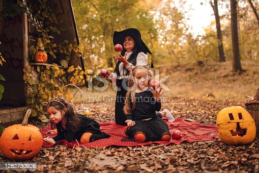 Joyful Halloween holiday in nature