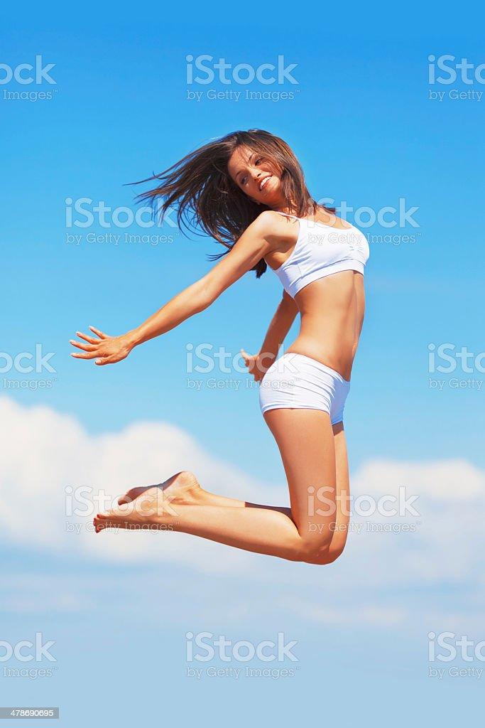 Joyful Jumping stock photo
