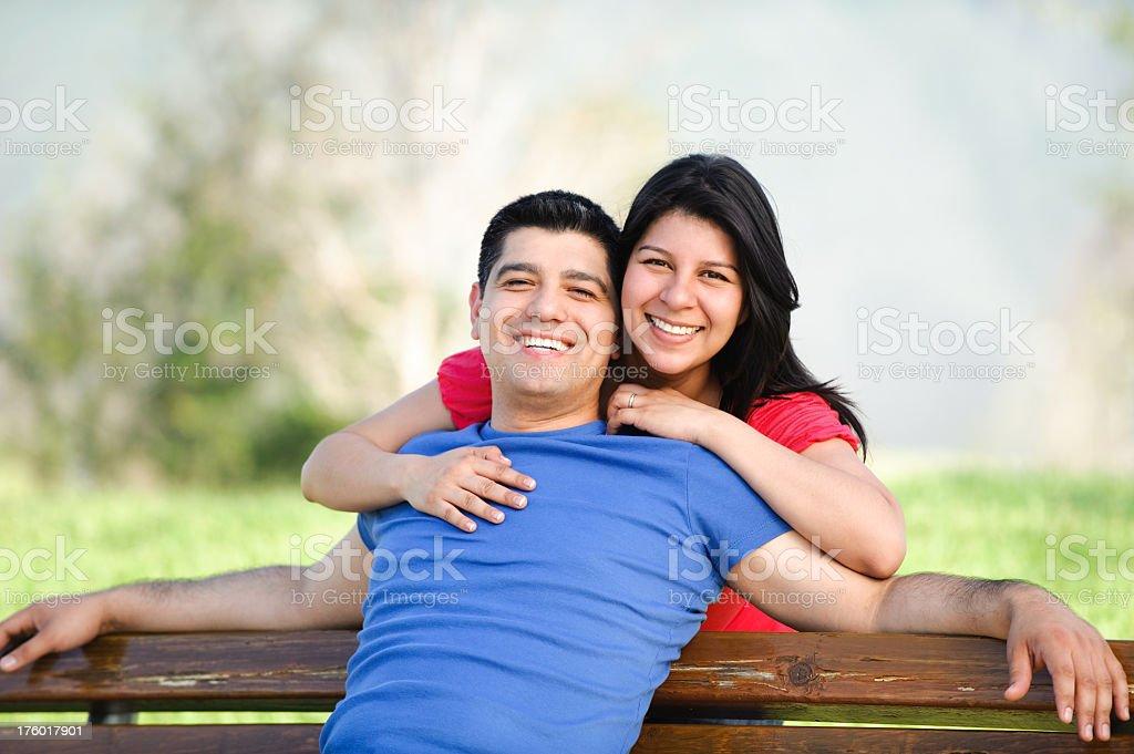 Joyful latin couple royalty-free stock photo