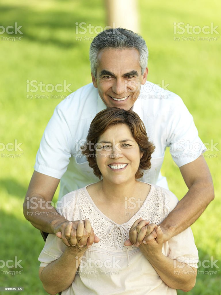 Joyful mature couple royalty-free stock photo