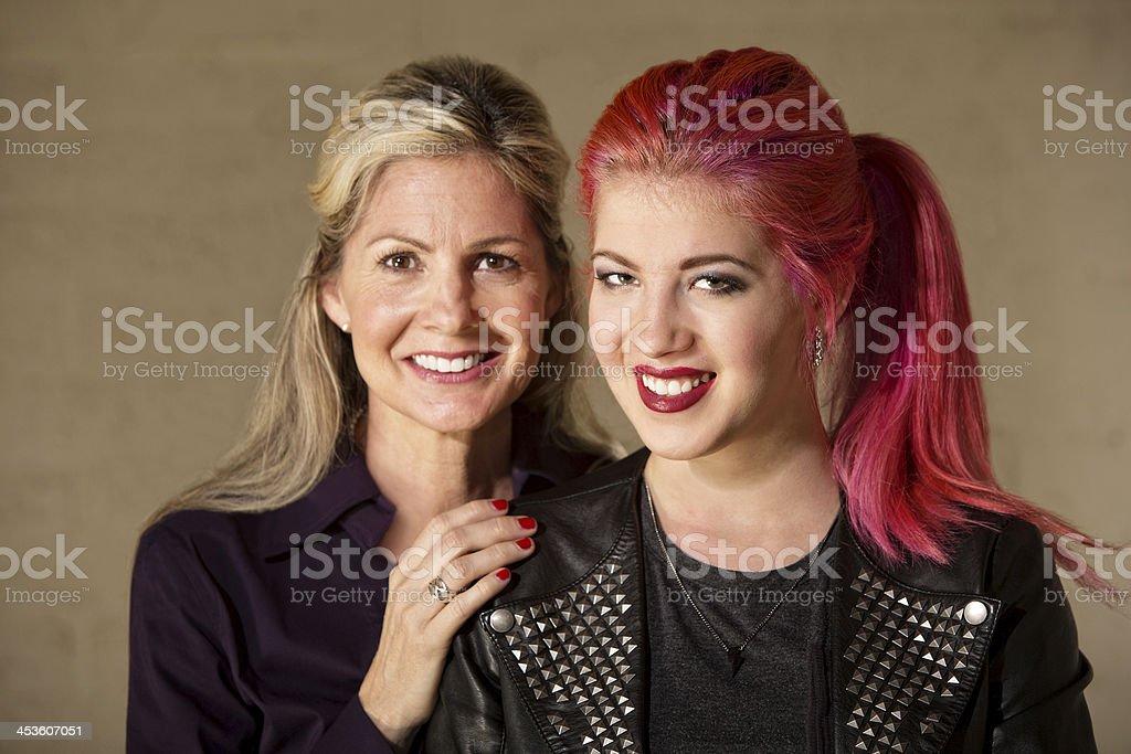 Joyful Mom and Teenager royalty-free stock photo