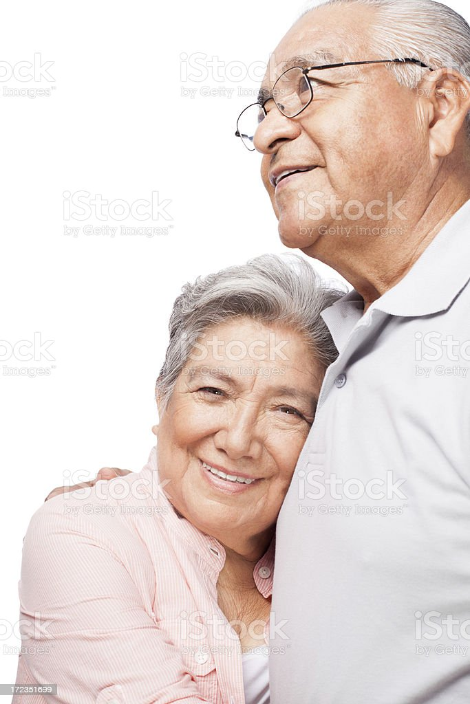 Joyful senior husband and wife royalty-free stock photo