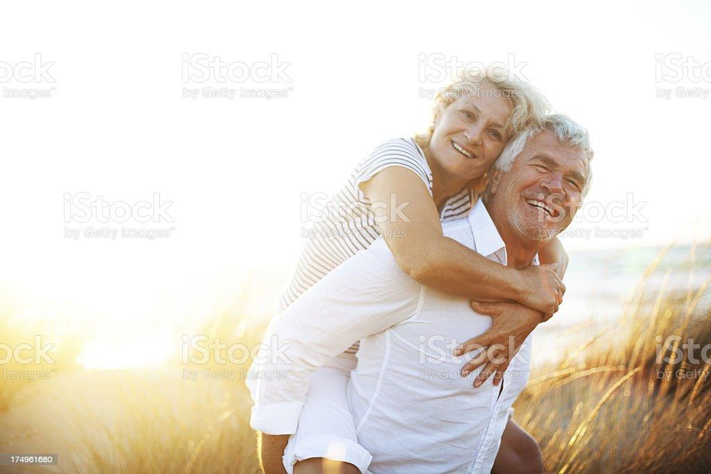 Joyful seniors royalty-free stock photo