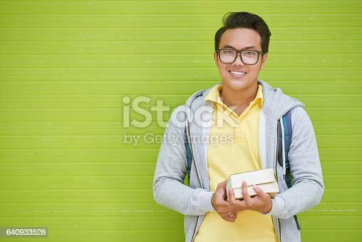 istock Joyful student 640933526