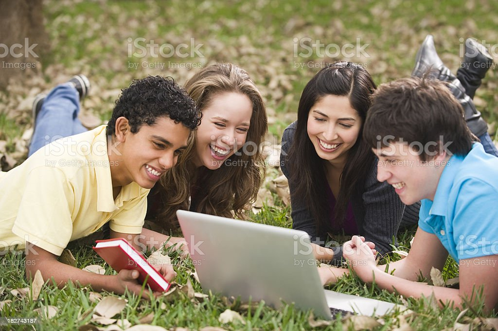 Joyful students royalty-free stock photo