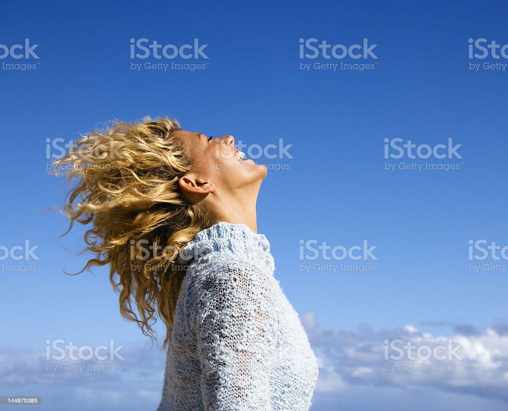 Joyful woman. stock photo