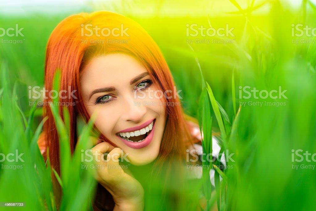 joyful woman portrait royalty-free stock photo