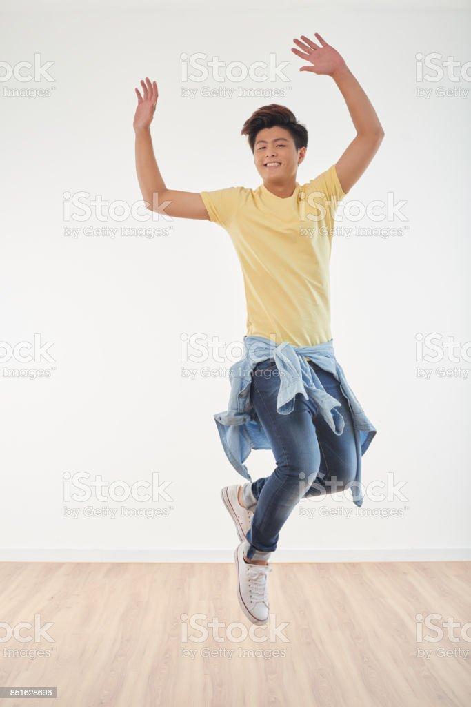Joyous guy stock photo