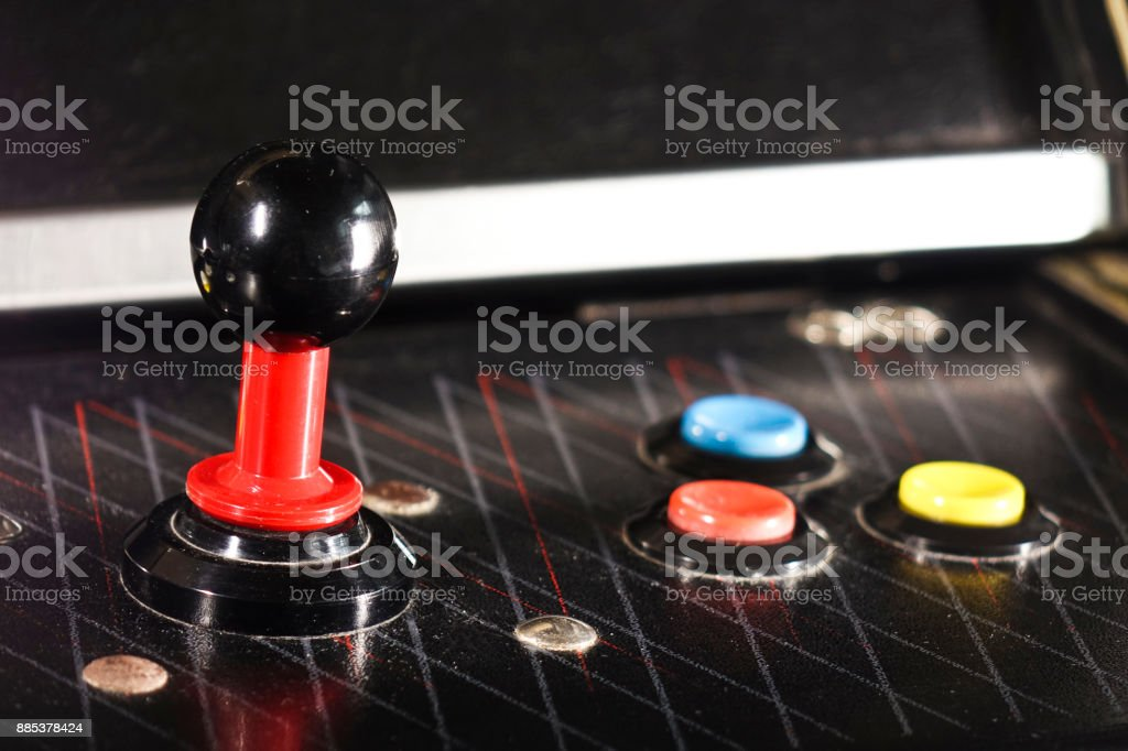 Joystick and Buttons Game Arcade - foto stock
