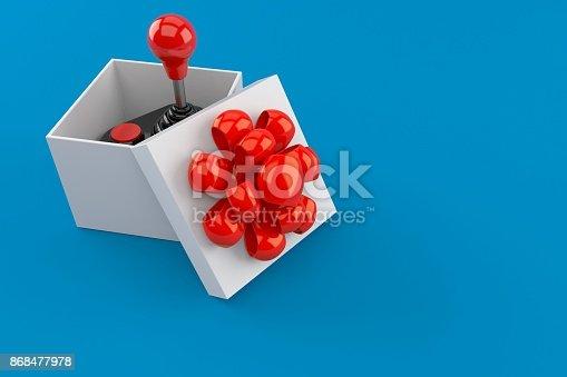 istock Joystick inside gift 868477978