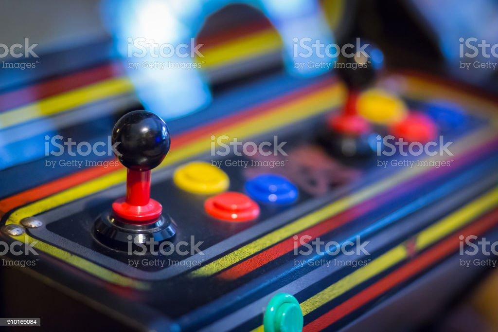 Joystick de una galería vintage videogame-Botón-Op - foto de stock