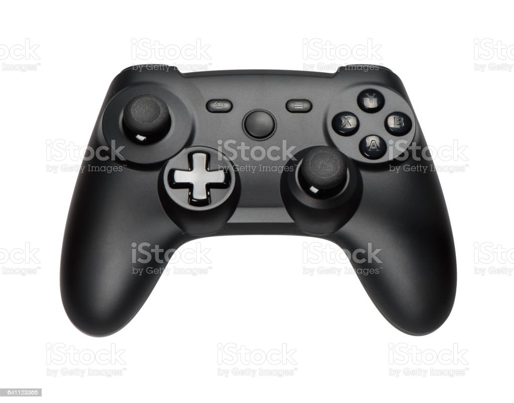 Joystick on white background stock photo