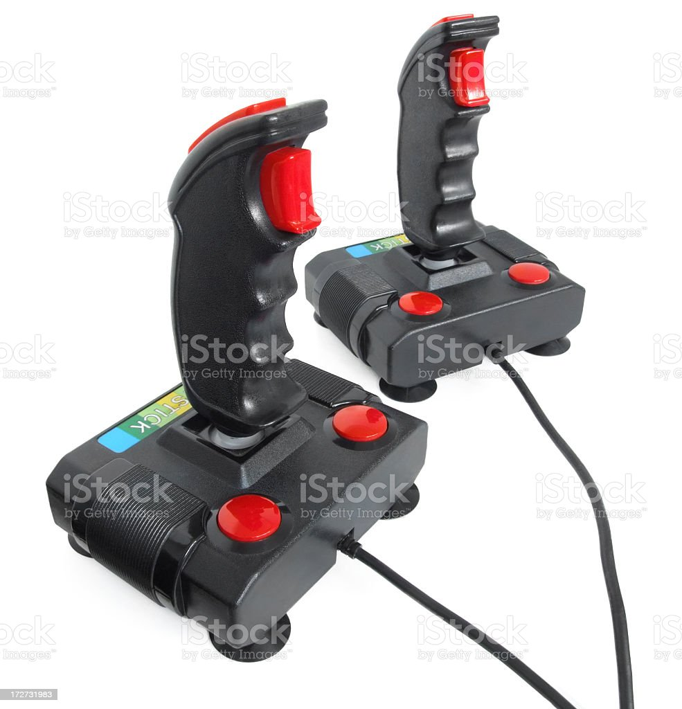 Joysticks stock photo