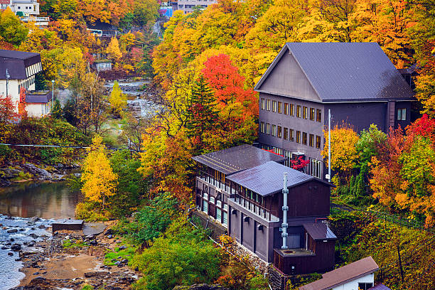 jozankei, japan - sapporo stock photos and pictures