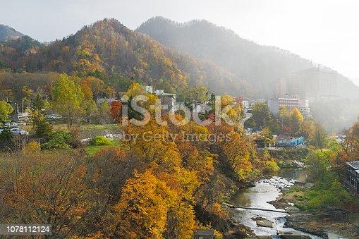istock Jozankei Onsen in autumn, Japan 1078112124