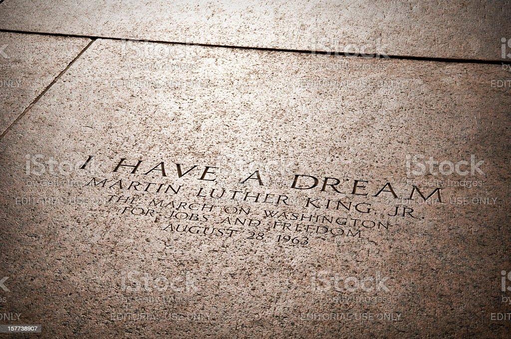 MLK Jr's I Have a Dream speech location stock photo