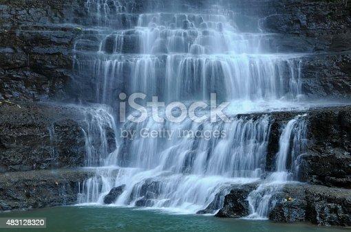 Juan Curi waterfall Santander Colombia.