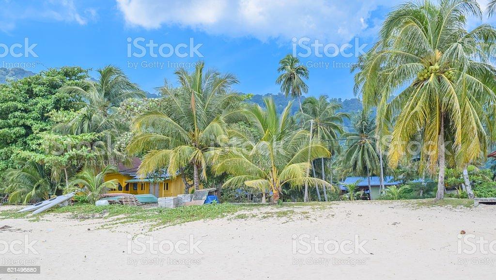 Juara beach of Tioman island in Malaysia foto stock royalty-free