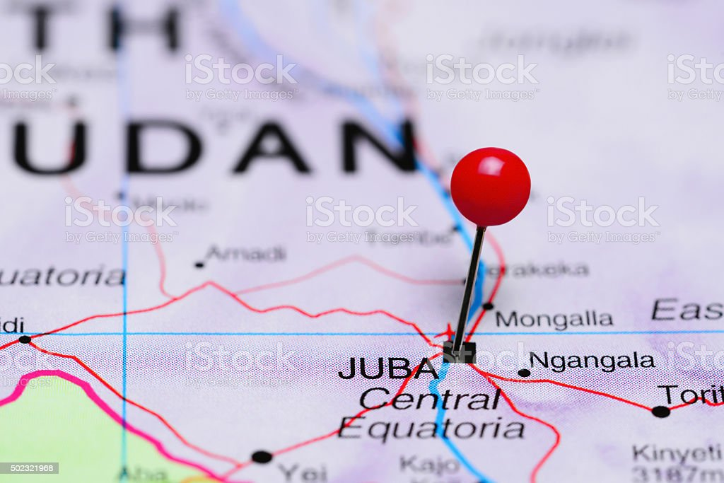 Juba Pinned On A Map Of Africa Stock Photo More Pictures of 2015