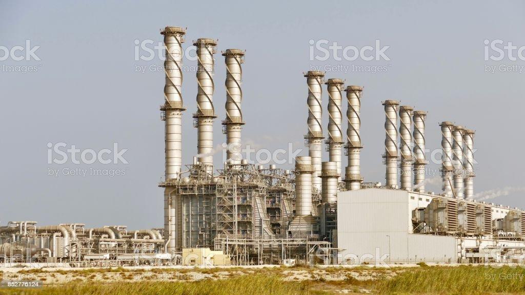 Jubail Desalination plant stock photo