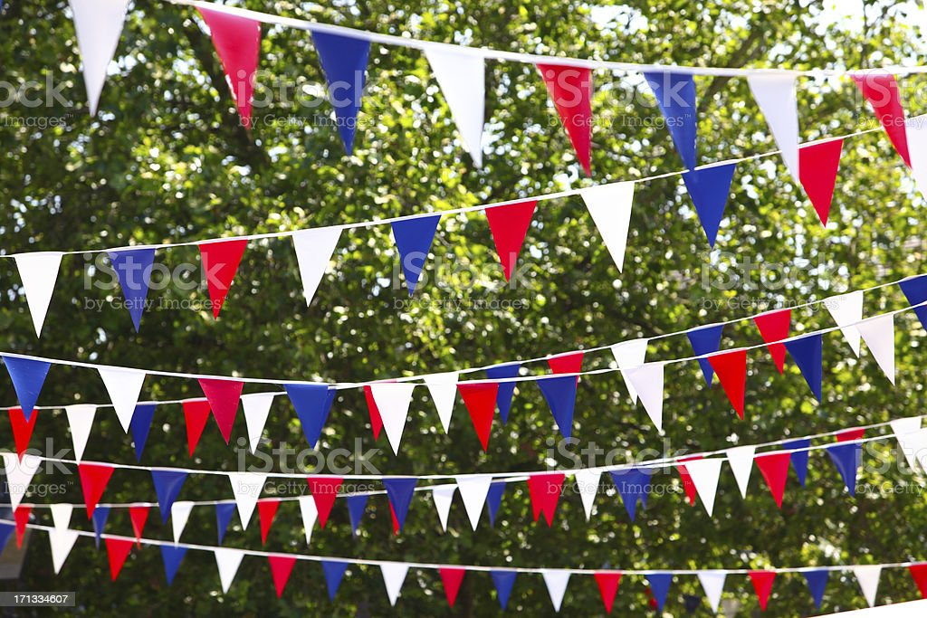 Jubilee Bunting Flags stock photo