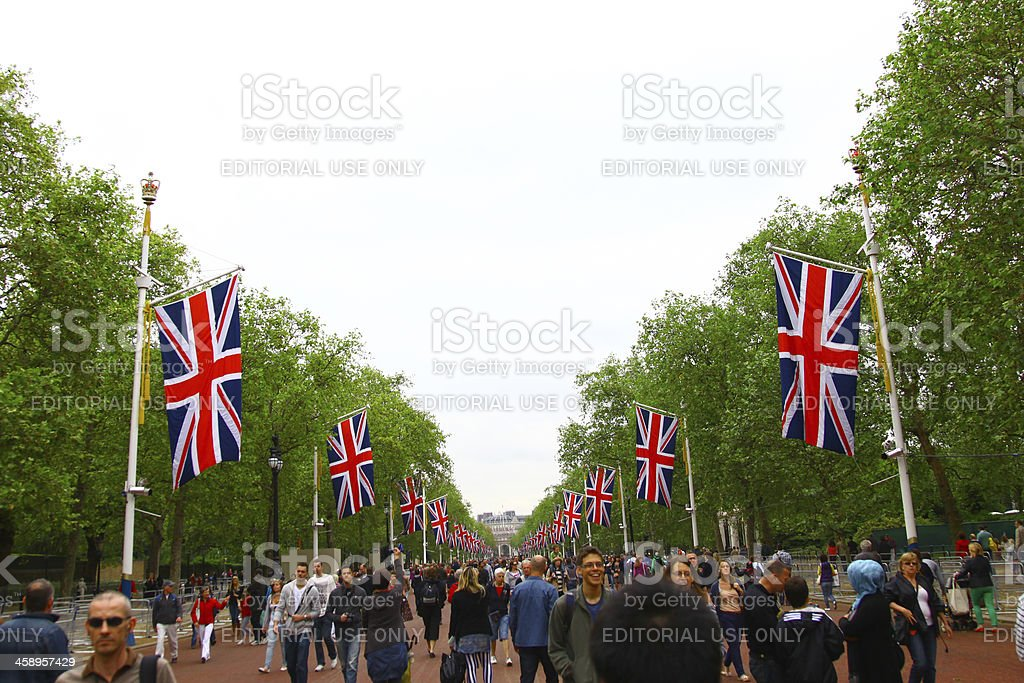 Jubilee Celebrations - The Mall royalty-free stock photo