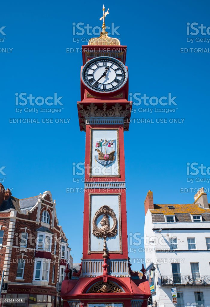 Jubilee Clock in Weymouth, UK stock photo