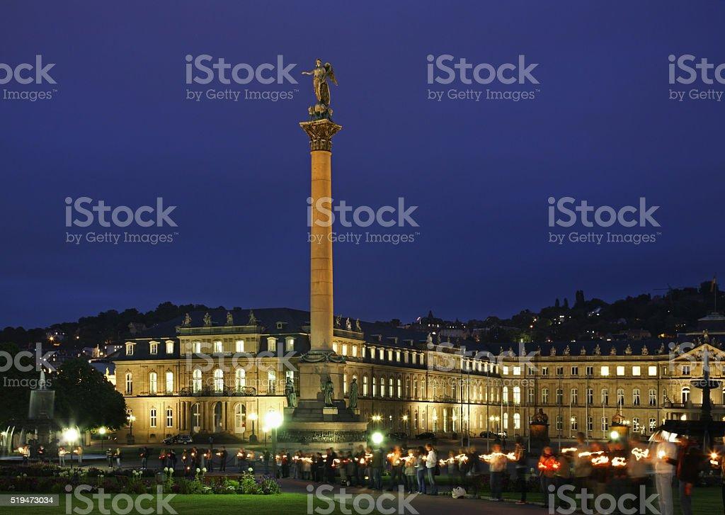 Jubilee Column - Jubilaumssaule in Stuttgart. Germany stock photo