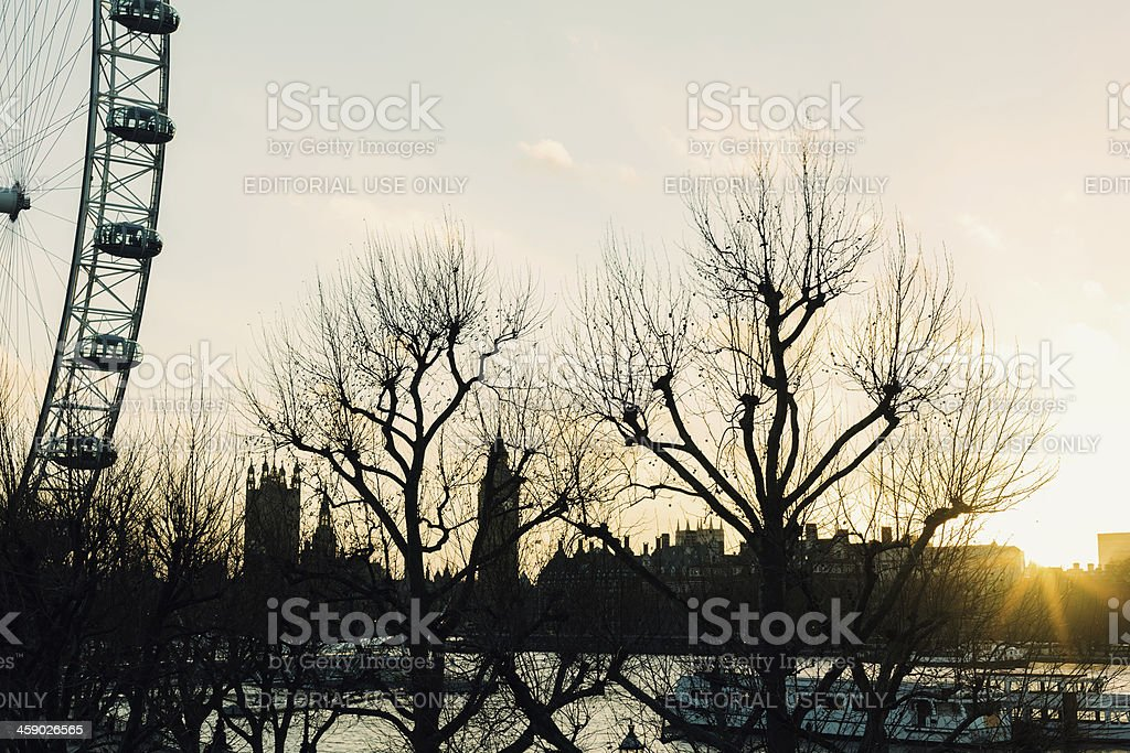 Jubilee Gardens at sunset royalty-free stock photo