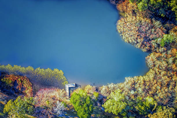 Jubilee Lake at Daylesford stock photo