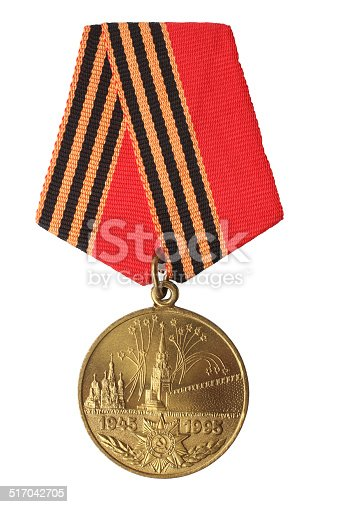 istock Jubilee Medal 50 Years of Victory Great Patriotic War 1941-1945 517042705