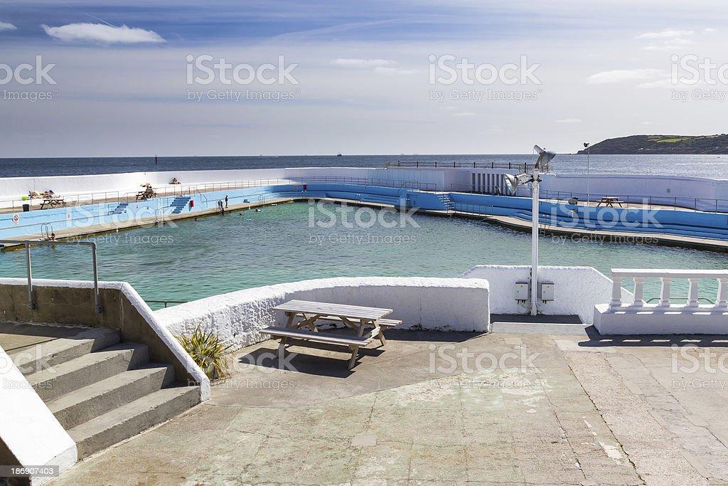 Jubilee Pool Lido Penzance stock photo