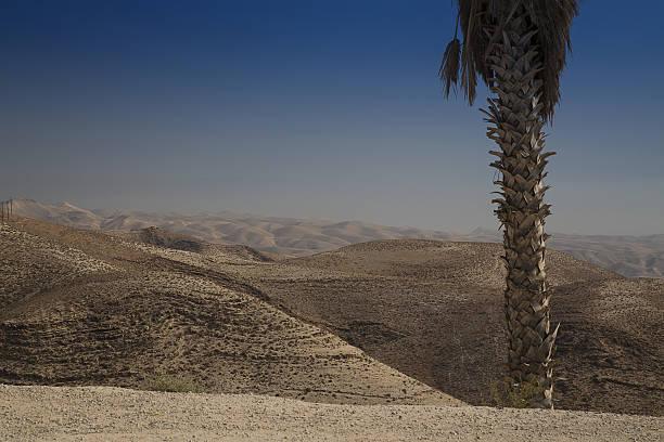 Judean Desert in Israel stock photo