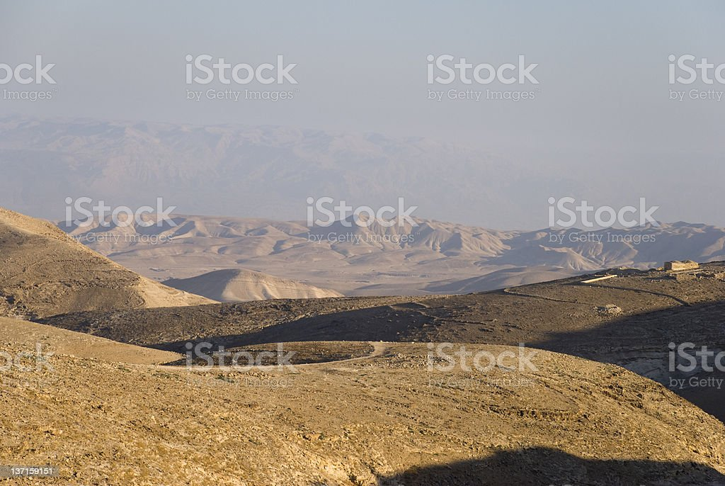 Judean Hills east of the West Bank city of Behtlehem royalty-free stock photo