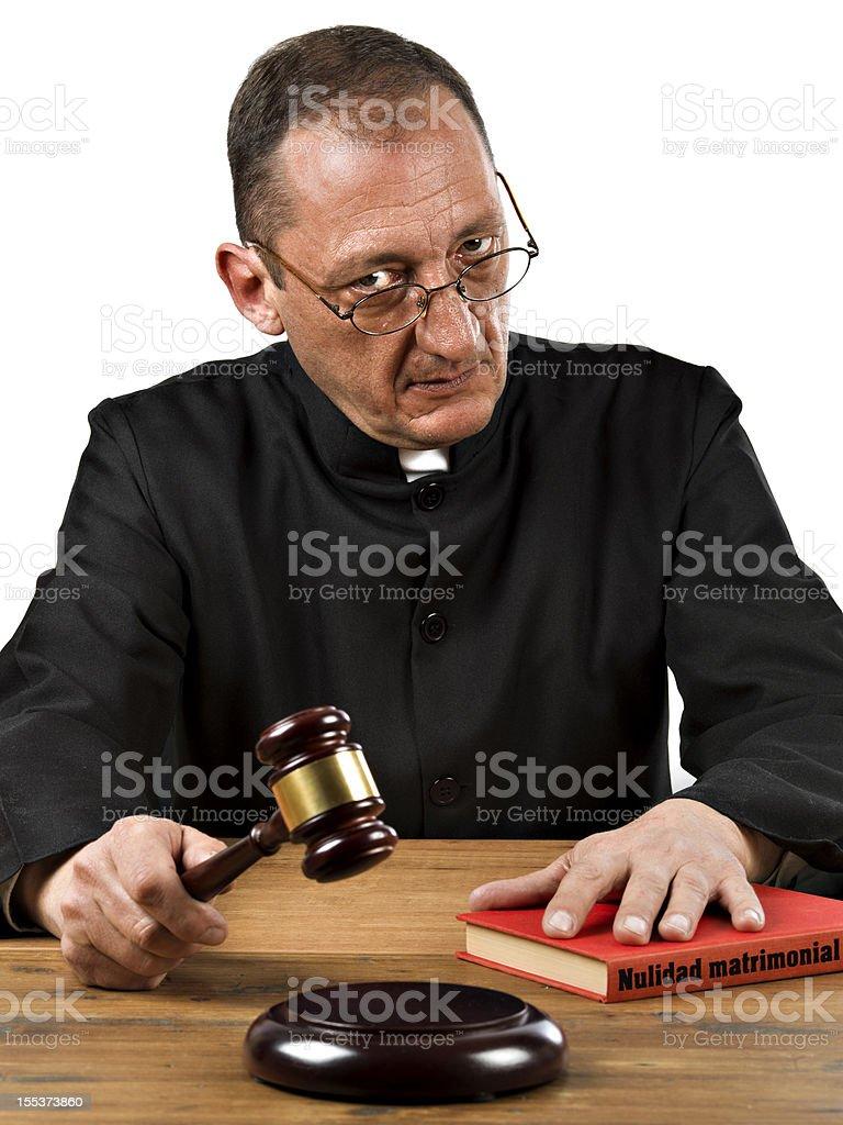 Judge. Catholic marriage nullity royalty-free stock photo