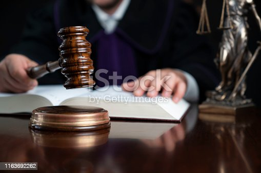 istock Judge concept. 1163692262
