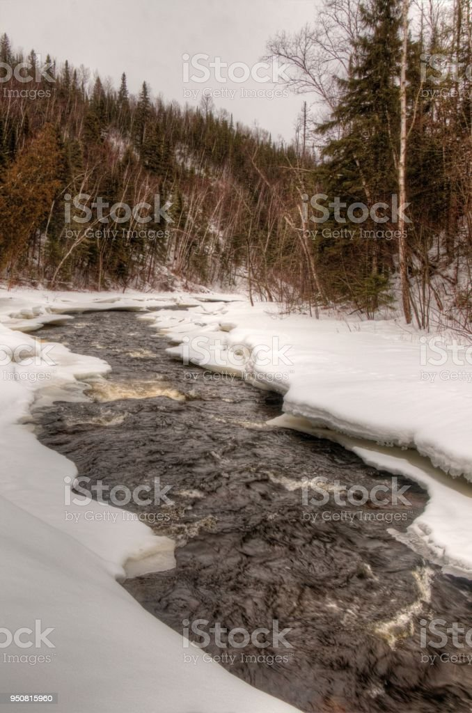Judge C.R Magney State Park is a less popular State Park in Minnesota due to its isolated Location stock photo