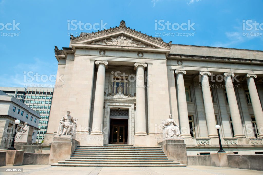 Judge D'Army Baily Courthouse building in downtown Memphis stock photo