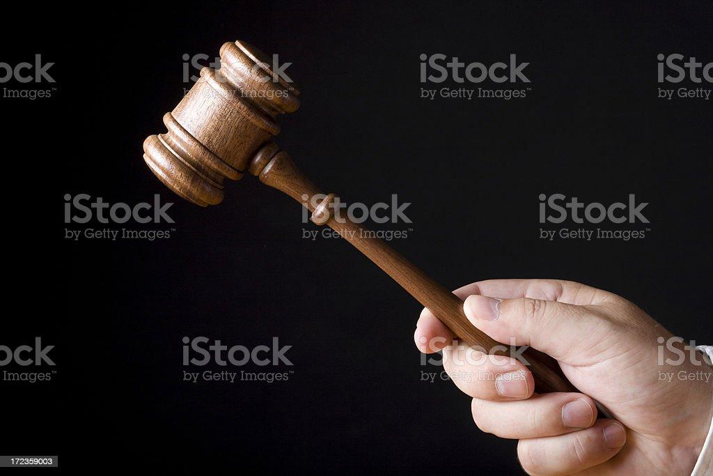 Judge gavel on black background royalty-free stock photo