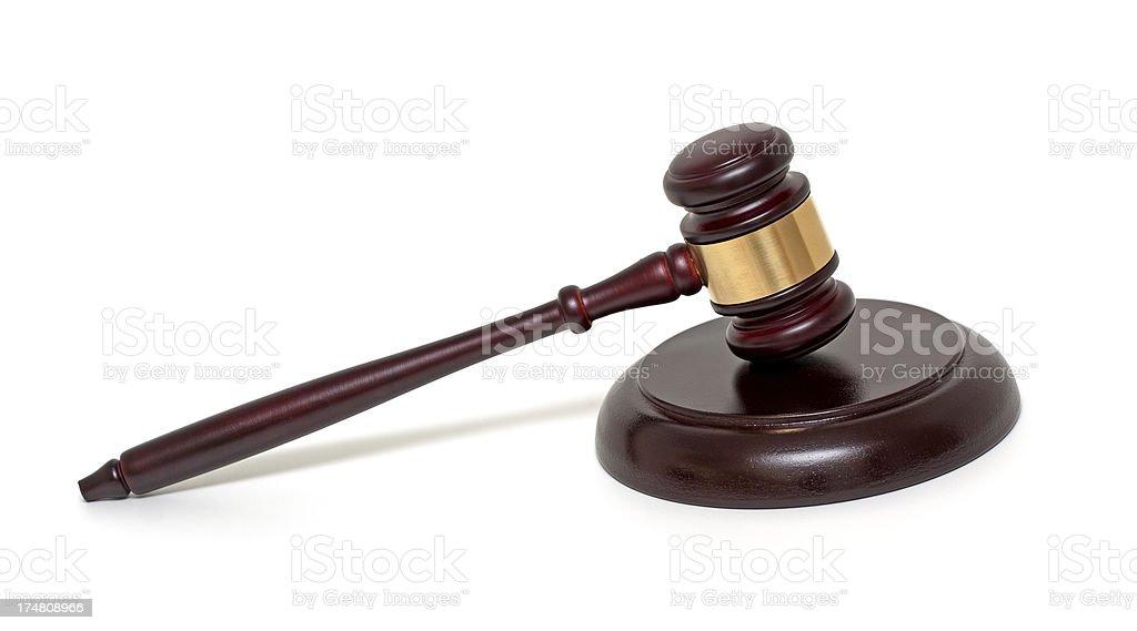 Judge gavel royalty-free stock photo