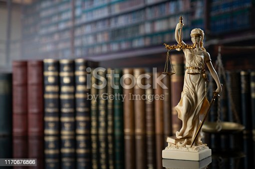 Symbol of justice – Themis in the old university library.