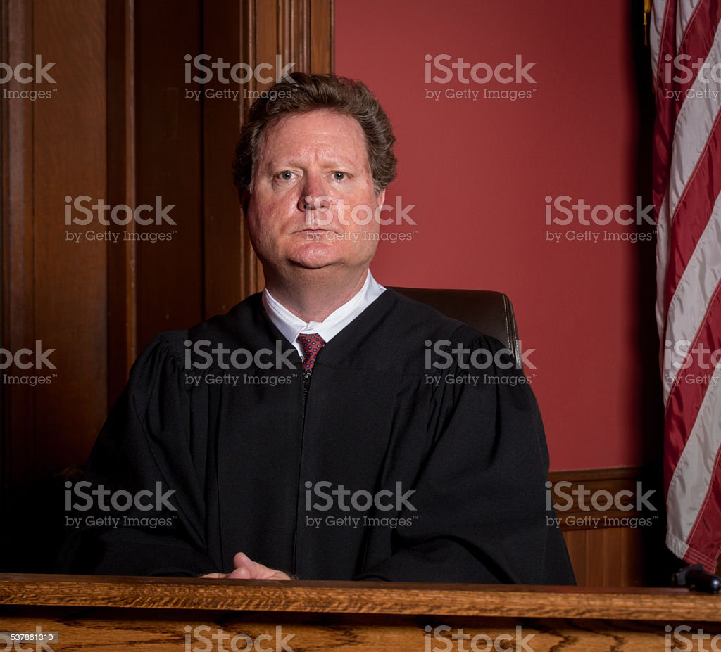 Judge Looking Regal stock photo