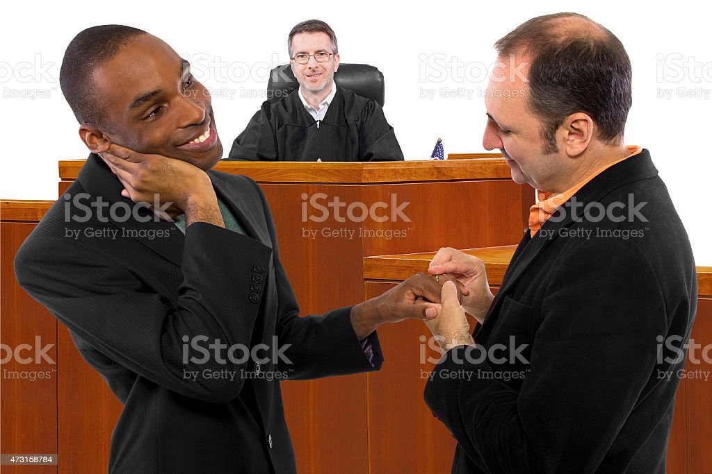 Judge Supporting Gay Marriage stock photo