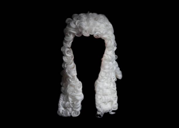 Judge white wig stock photo