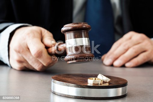 istock Judge with gavel on the table 639885268