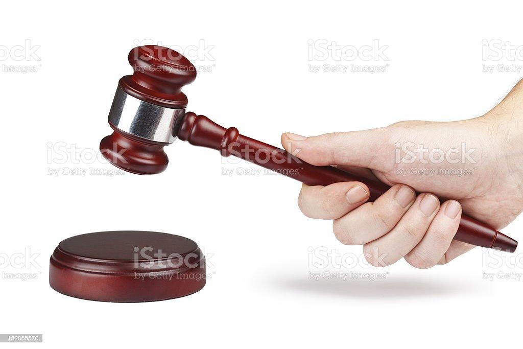 Richter mit einem Hammer – Foto