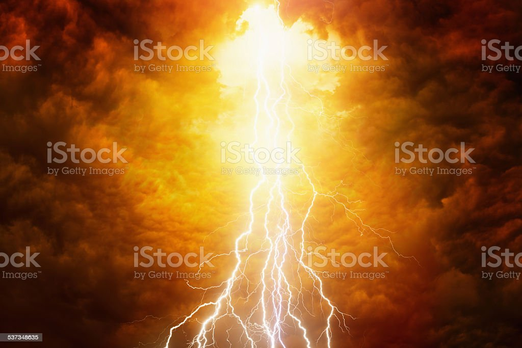 Judgement day stock photo