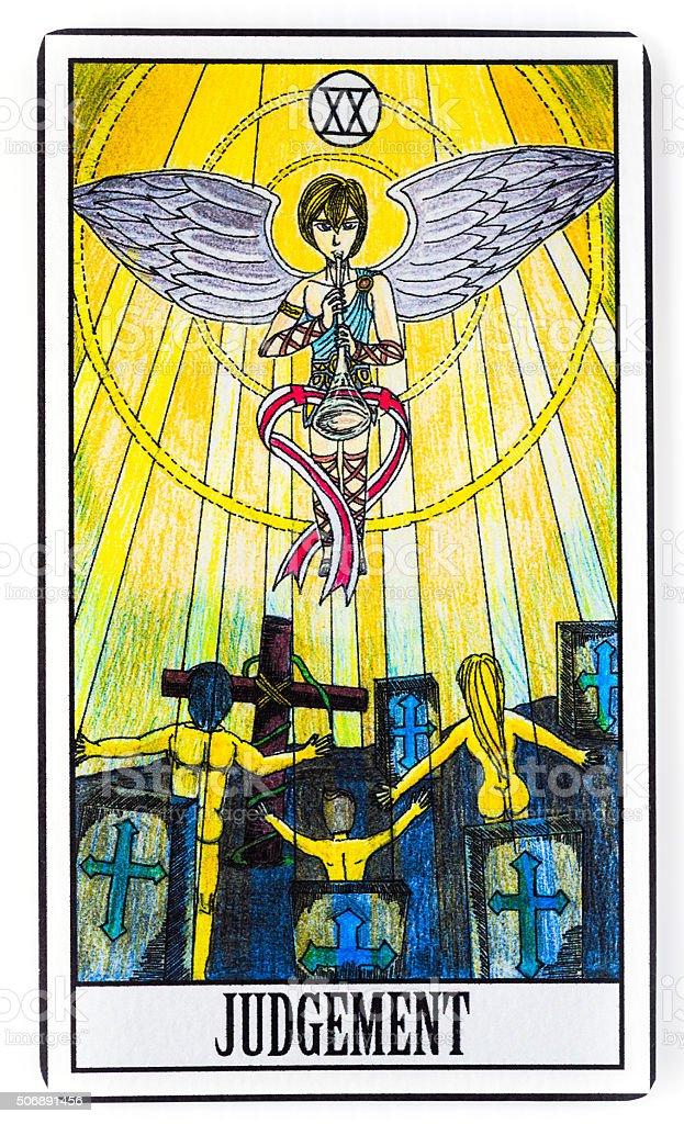Judgement Tarot Card stock photo