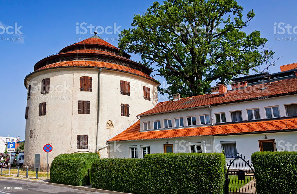 Judgement Tower, the fortified medieval tower in Maribor, Sloven stock photo